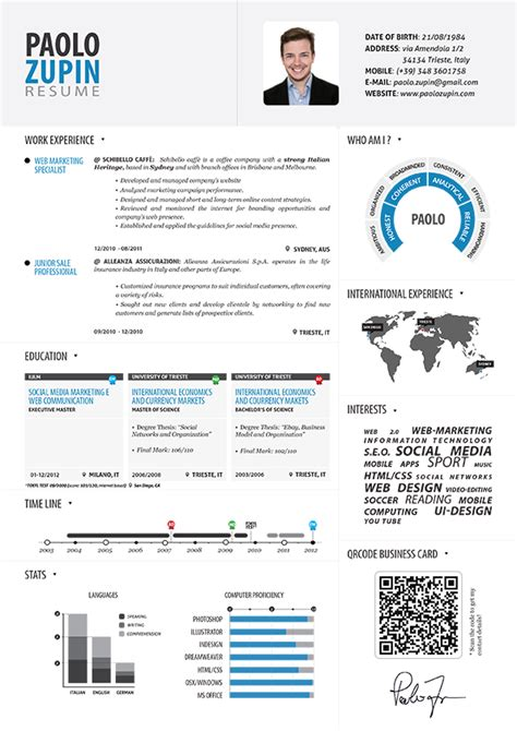 Resume Infographic Paolo Zupin Infographic Resume Infographic