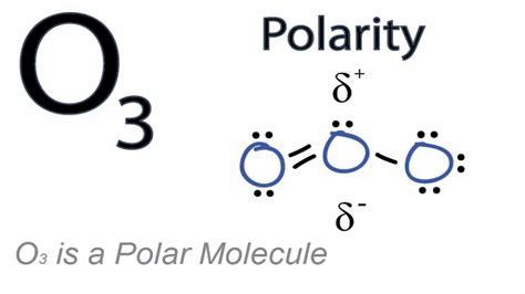 which electron dot diagram represents a polar molecule is o3 polar or nonpolar