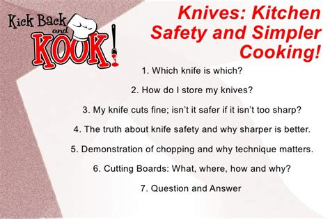 Safety Kitchen Knives by Knife Skills Kitchen Safety And Simpler Cooking