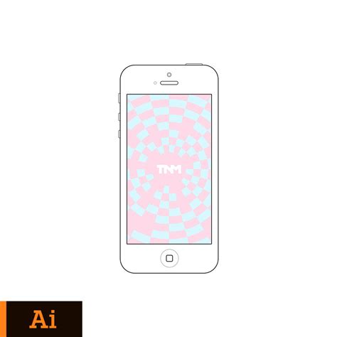 adobe illustrator iphone template vector mockup illustrator template for apple iphone 5