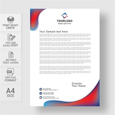 professional letterheads templates free professional business letterhead template free