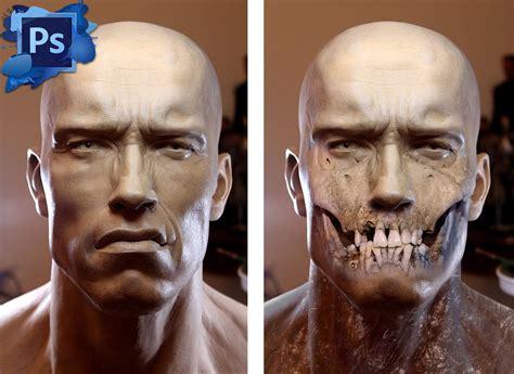 tutorial photoshop skull face arnold schwarzenegger photoshop tutorial halloween skull
