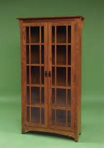 Mission Bookcase With Doors Mission Bookcases Amish Furniture 3082