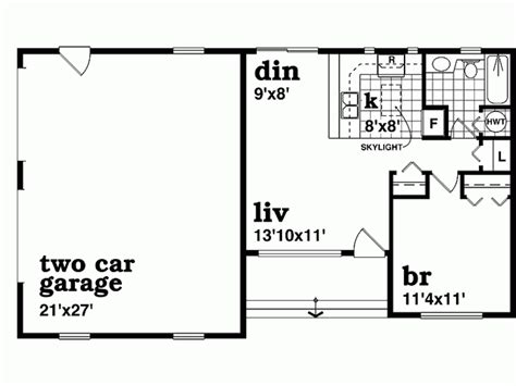 1 bedroom guest house floor plans eplans bungalow house plan guest cottage 1210 square