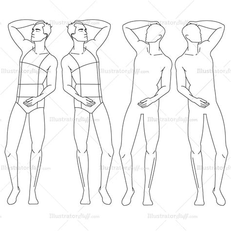 male fashion croquis template croquis sketches and