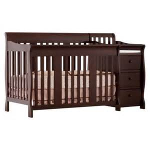 Baby Bed And Changing Table Combo Storkcraft Portofino Crib Changer Combo In Espresso
