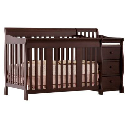 Crib And Mattress Combo Storkcraft Portofino Crib Changer Combo In Espresso