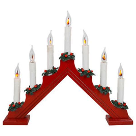 7 bulb candle bridge flickering lights christmas