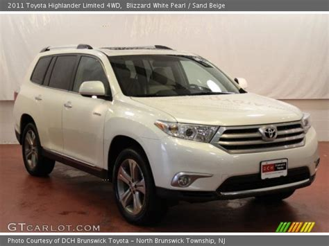 2011 Toyota Highlander Limited Blizzard White Pearl 2011 Toyota Highlander Limited 4wd