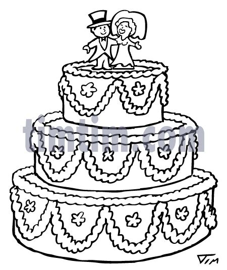 coloring pages of cake boss free drawing of a wedding cake bw from the category church