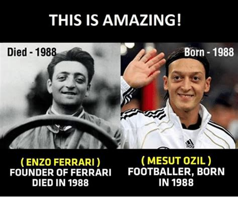 Ferrari Y Ozil by This Is Amazing Born 1988 Died 1988 Mesut Ozil Enzo