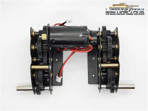 Lock Gearbox 2 Part Original Tamiya new steel gear 4 1 with 390 motors tiger tanks rc tanks remote controlled tank from heng