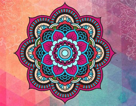 imagenes de mandalas coloridas desenho de mandala flor oriental pintado e colorido por