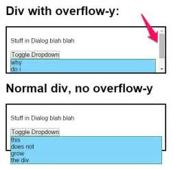 html div overflow html prevent absolutely positioned element in overflow