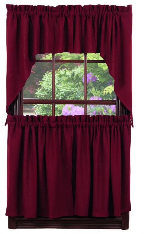 42 x 36 curtains burlap solid wine window curtain swag 72 quot x 36 quot ihf