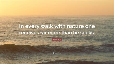 john muir quote   walk  nature  receives     seeks  wallpapers