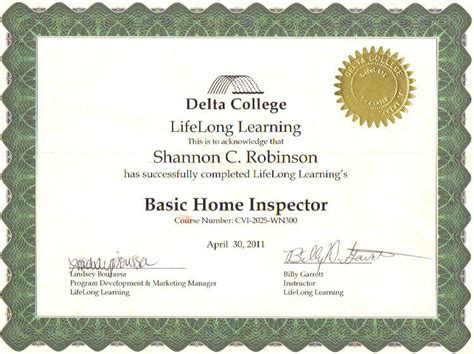 certification 187 home inspection company standish michigan