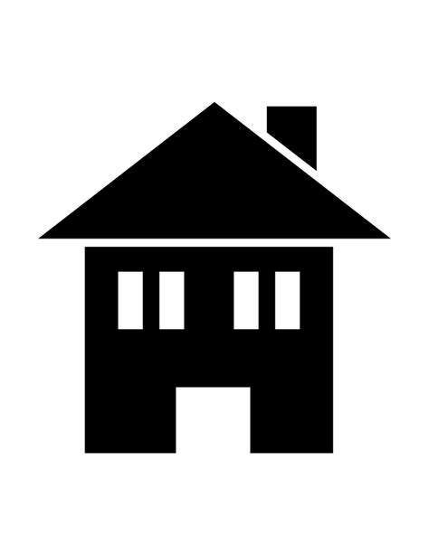 silhouette house house silhouette 97 h m coloring pages