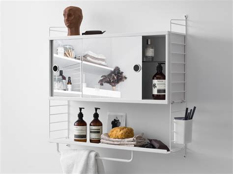 cabinet shelving bathroom buy the string shelving system bathroom cabinet white at