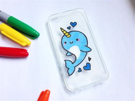 acrylic paint phone painted narwhal phone cases all cases will be made