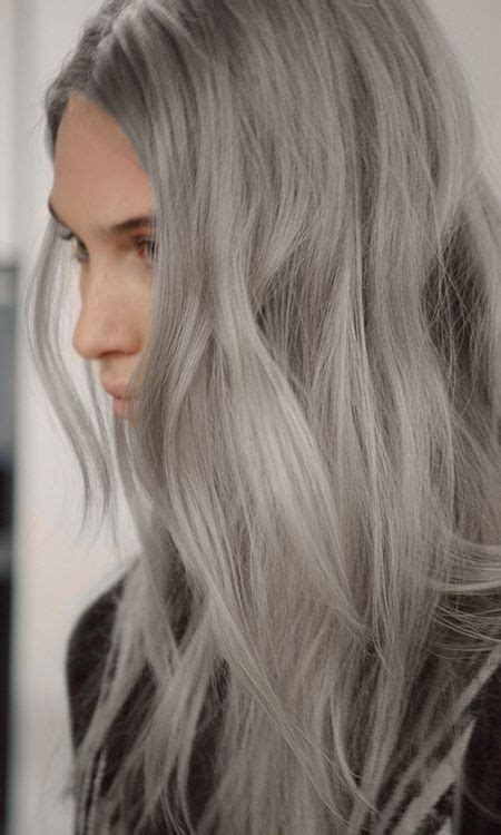 silver blonde grey hair