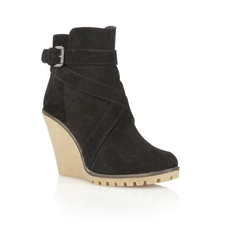 Wedge Boots buy ravel alaska wedge ankle boots in black