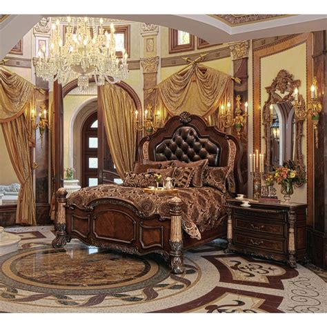 michael amini victoria palace 4pc eastern king size panel