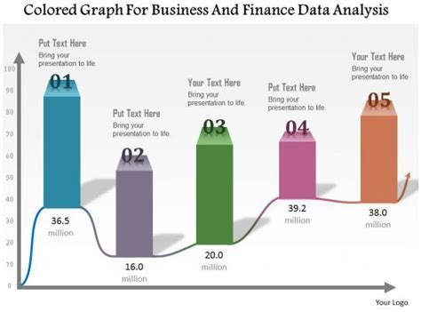 colored graph  business  finance data analysis powerpoint template