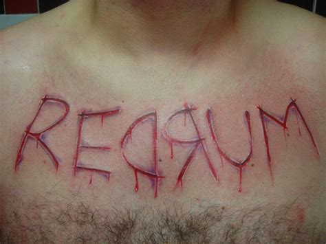 redrum tattoo 31 best inspiration images on evil