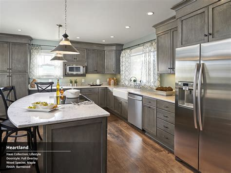 grey stained hickory cabinets grey kitchen https www facebook com finedesignbyamber ref hl lifestyle collection at haas