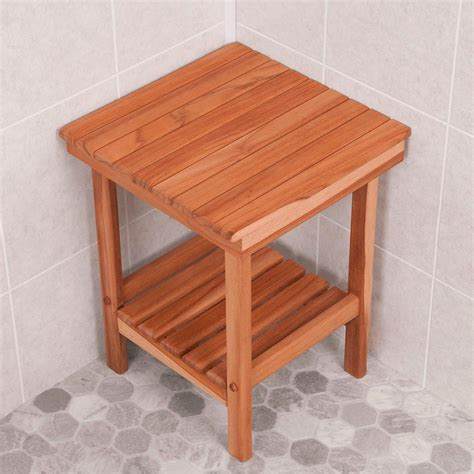 mini bench teak shower spa mini bench nautical luxuries