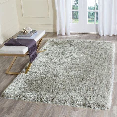 Memory Foam Area Rug Safavieh Memory Foam Plush Shag Silver 5 Ft X 8 Ft Area Rug Sgp256b 5 The Home Depot