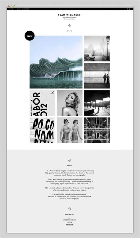 grid layout for portfolio amazing web design ideas adam widmanski grid based