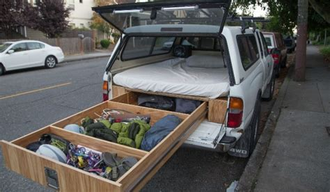 Toyota Tacoma Owner Turns His Car into a Handmade RV