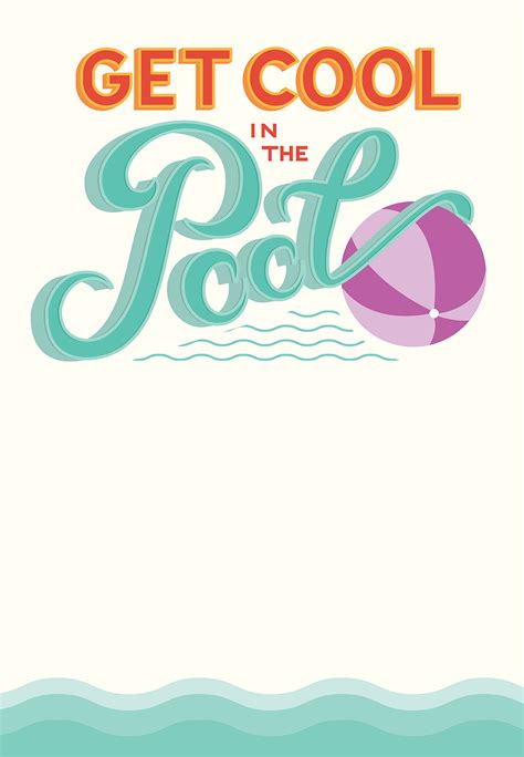 pool party free printable party invitation template