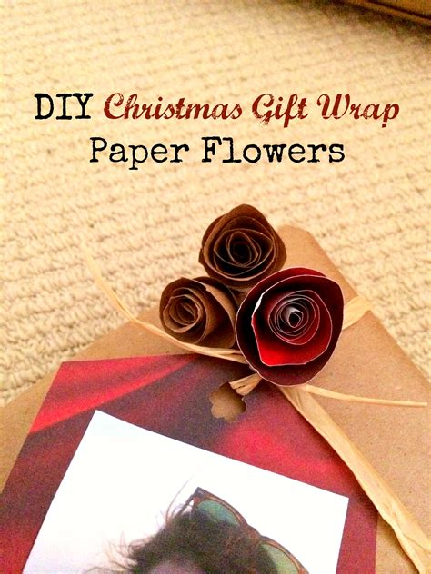 How To Make A Flower Out Of Wrapping Paper - diy gift wrap paper flowers mba sahm