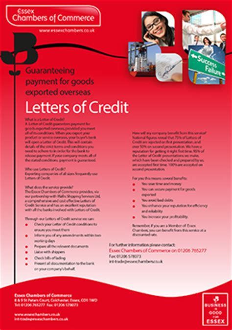 Letter Of Credit Benefits International Trade Leader Export Member Benefits