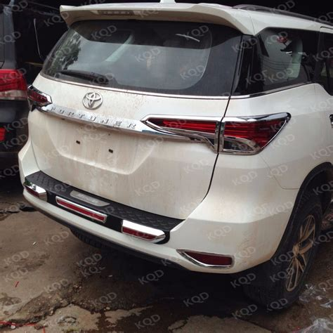 Tank Cover Chrome Fortuner 2016 Model car rear bumper protector toyota fortuner bumper