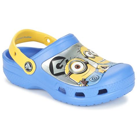Promo Sandal Crocs Minions crocs cc minions clog blue yellow free delivery with spartoo uk shoes clogs child 163 24 69