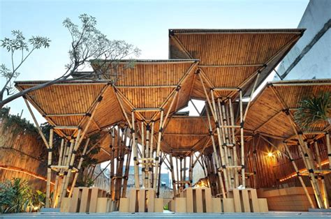 Bamboo Design Indonesia | indonesian bamboo restaurant is a striking open air design