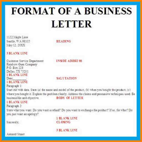 Business Letter Structure Exle 7 Business Letter On Letterhead Attorney Letterheads
