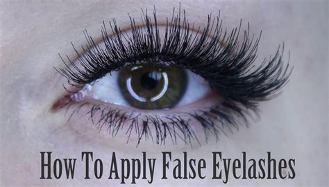 How To Apply The Best How To Apply Of False Eyelashes Lash Individuals