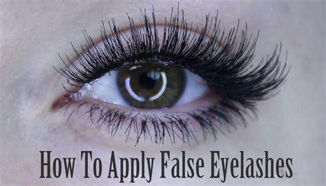 How To Apply Of False Eyelashes Lash Individuals