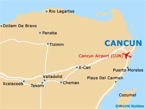 map of mexico showing cancun cancun golf courses cancun quintana roo mexico