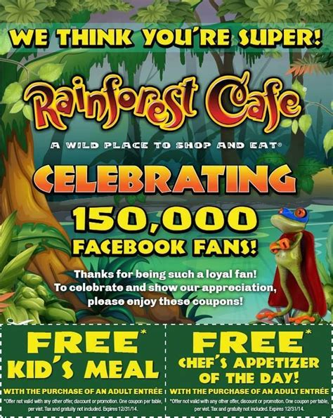 printable food coupons for disney world 17 best ideas about rainforest cafe coupons on pinterest