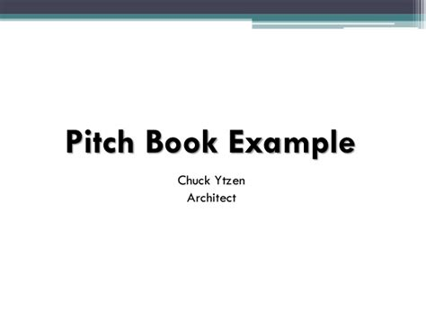 Pitch Book Presentation Pitchbook Template Powerpoint