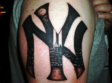 ny tattoo designs new york yankees tattoos