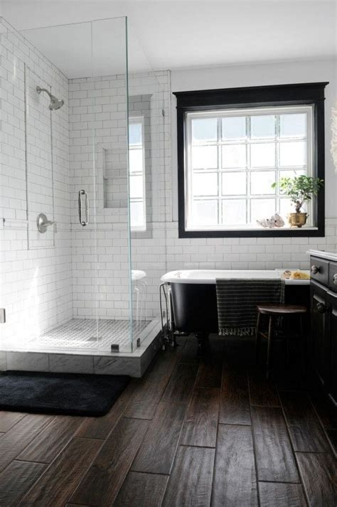 bathrooms with wood tile floors add warmth to a room with wood tile flooring modernize
