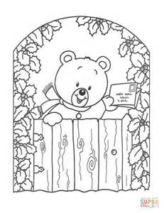 coloring cards teddy with greeting card coloring page