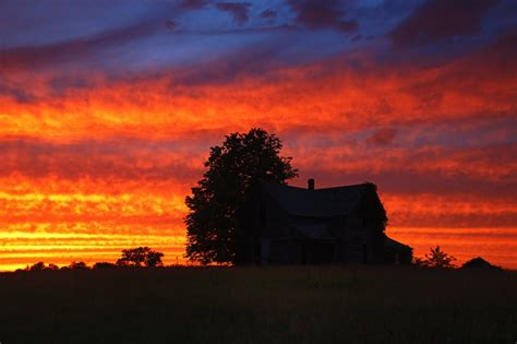 Large Country Homes Old Country Home Sunset Photo Dan Bush Photos At Pbase Com